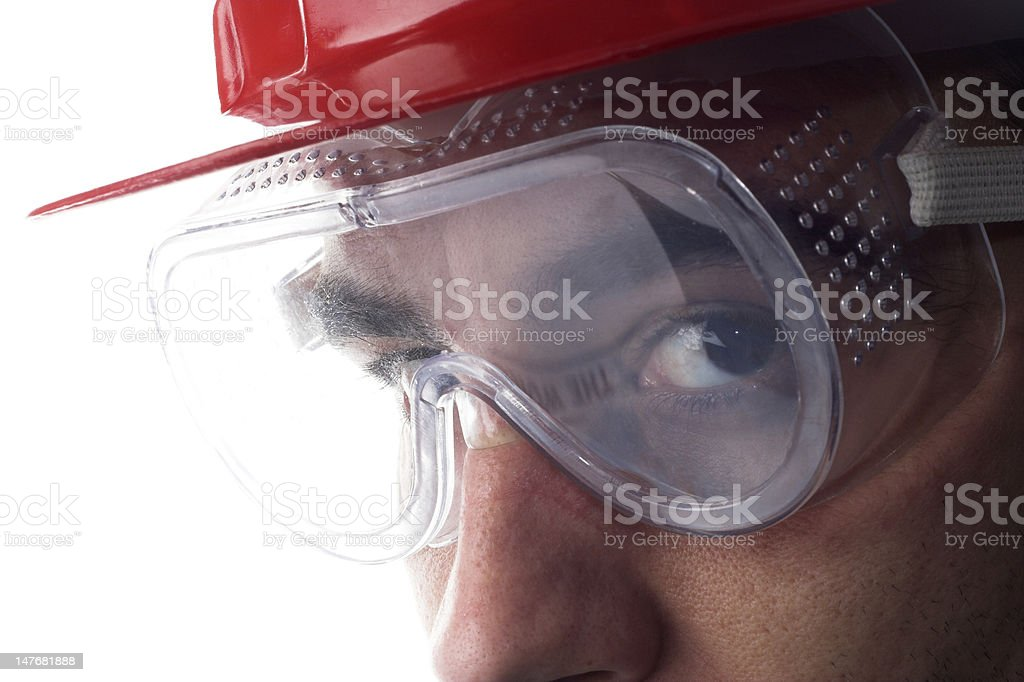 worker with helmet royalty-free stock photo