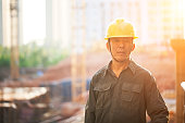 worker with yellow hard hat