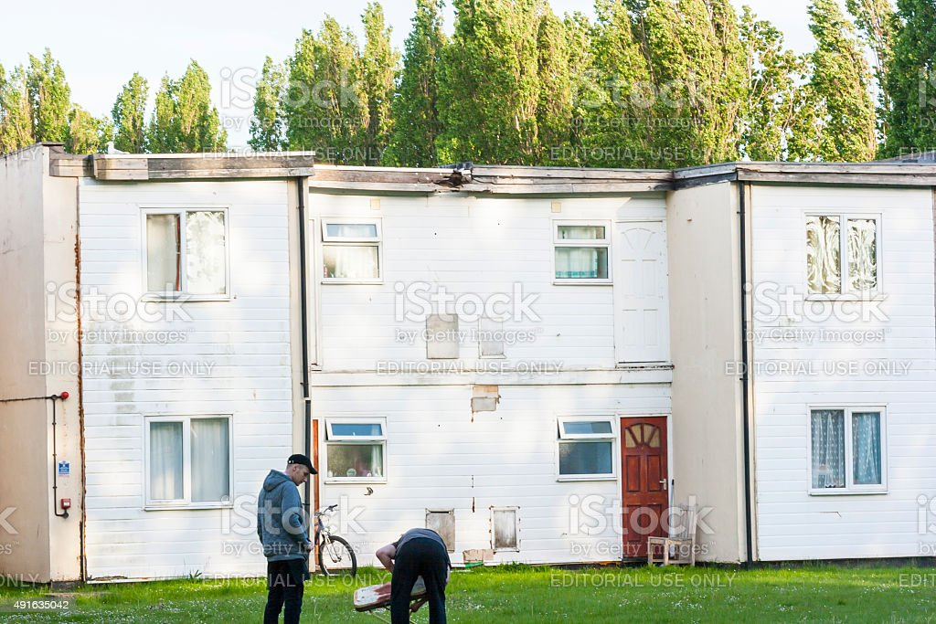 Workers accommodation  Butlins  Minehead Exmoor Somerset Englad stock photo