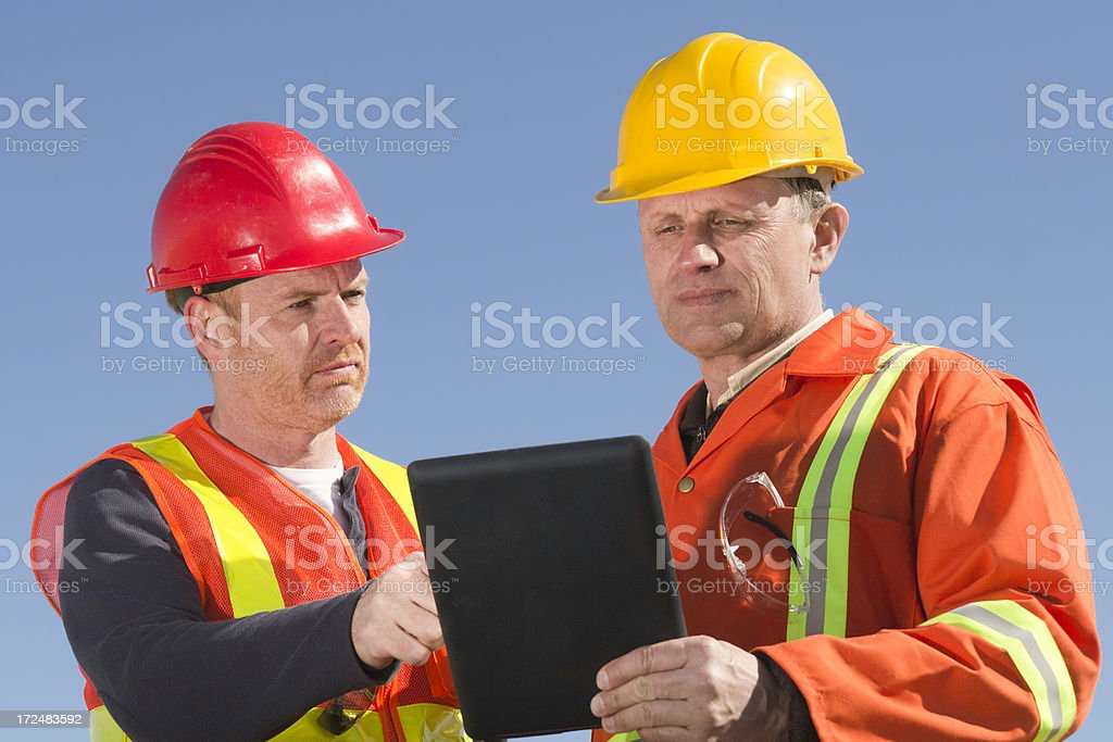 Workers and Technology royalty-free stock photo