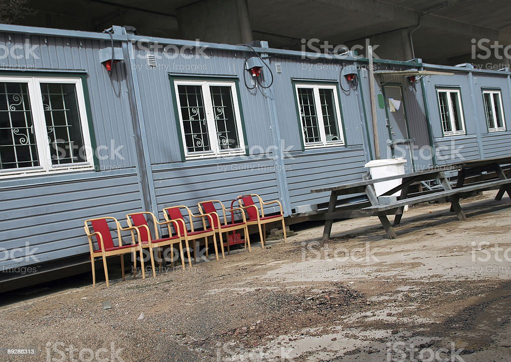 Workers barracks royalty-free stock photo