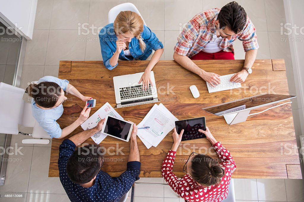 Workers doing their job so well stock photo