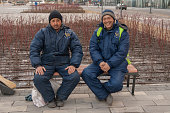 Workers from Middle Asia in Russia