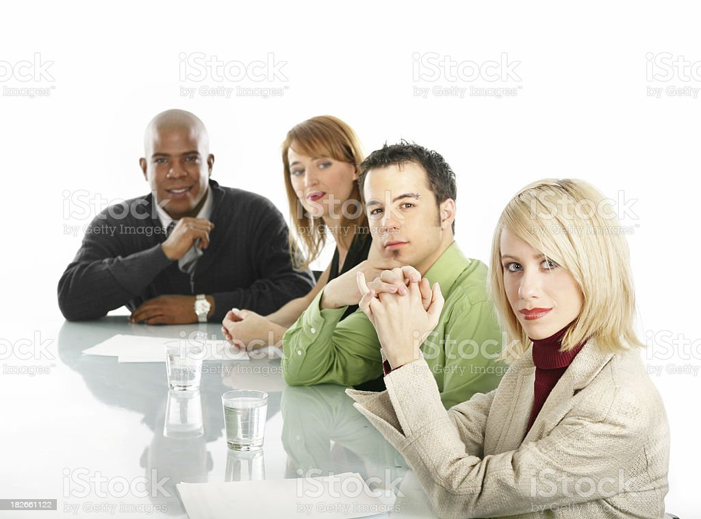 Workers in a conference room royalty-free stock photo
