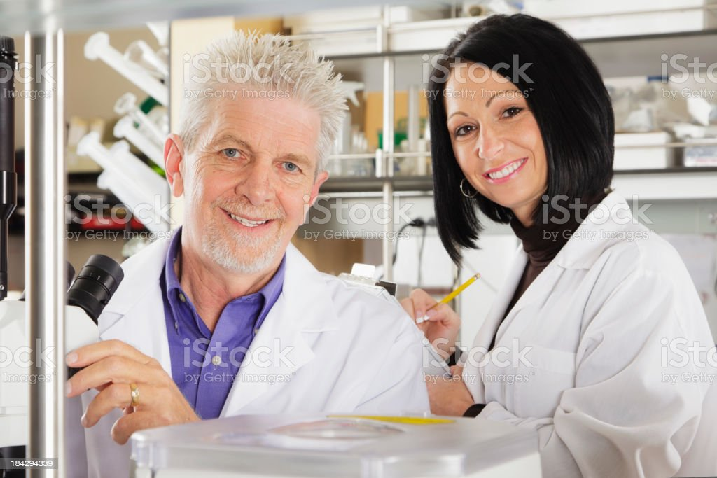 Workers in a Laboratory royalty-free stock photo