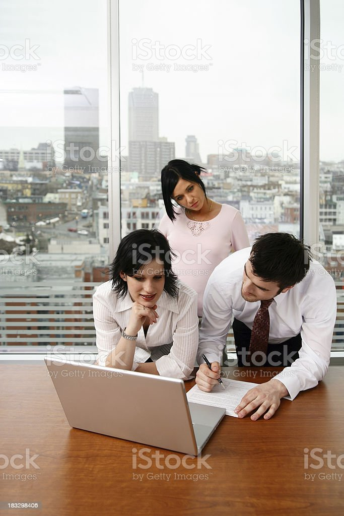 Workers in an office royalty-free stock photo