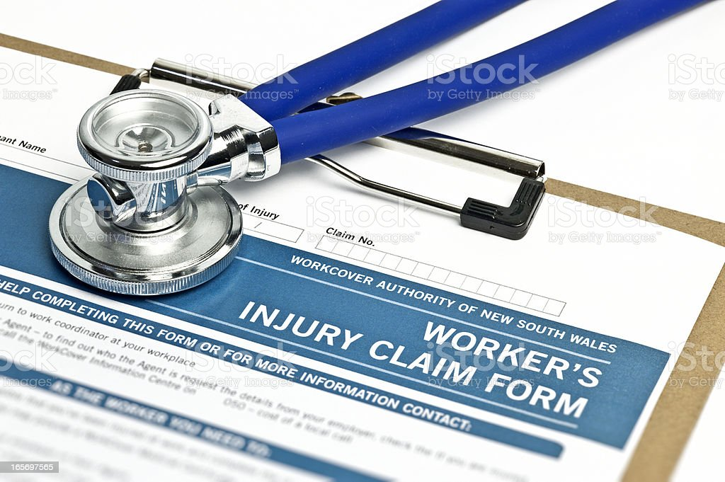 Worker's Injury Claim Form royalty-free stock photo
