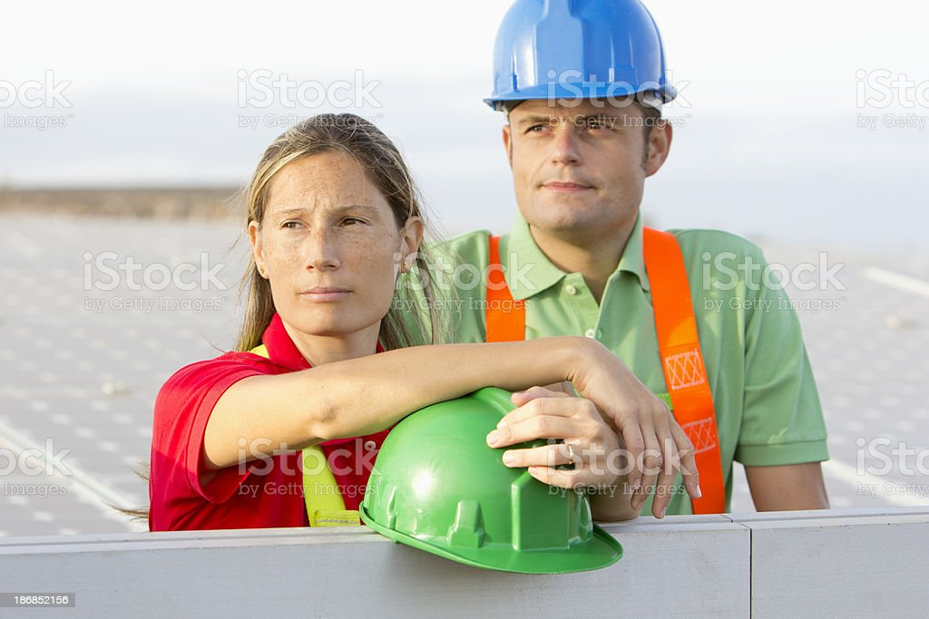 Workers on a break royalty-free stock photo