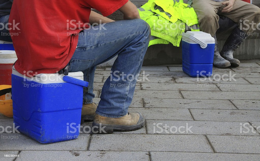 Workers on Break royalty-free stock photo