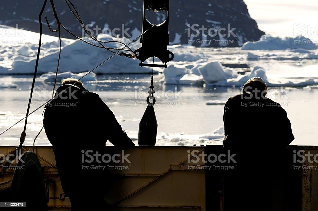 員の血管で南極大陸 ロイヤリティフリーストックフォト