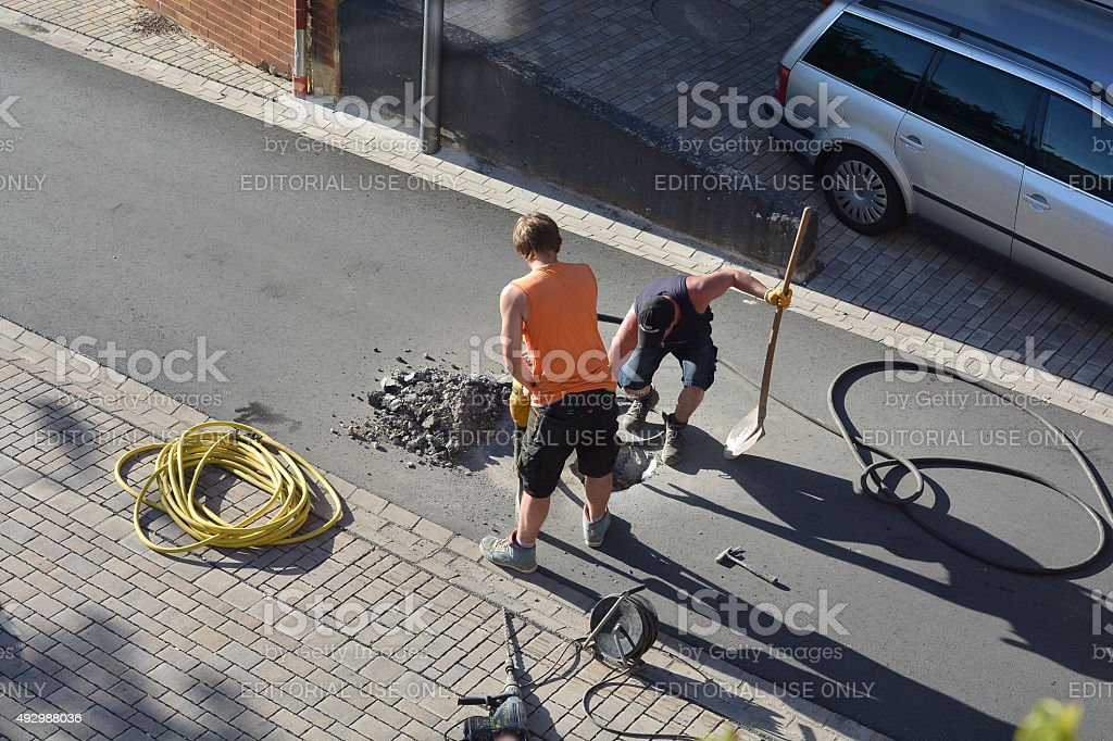 Workers stock photo