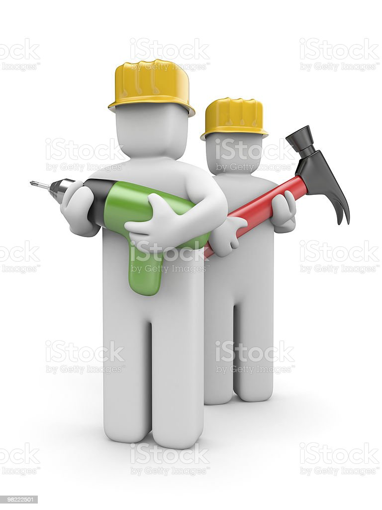 Workers royalty-free stock photo