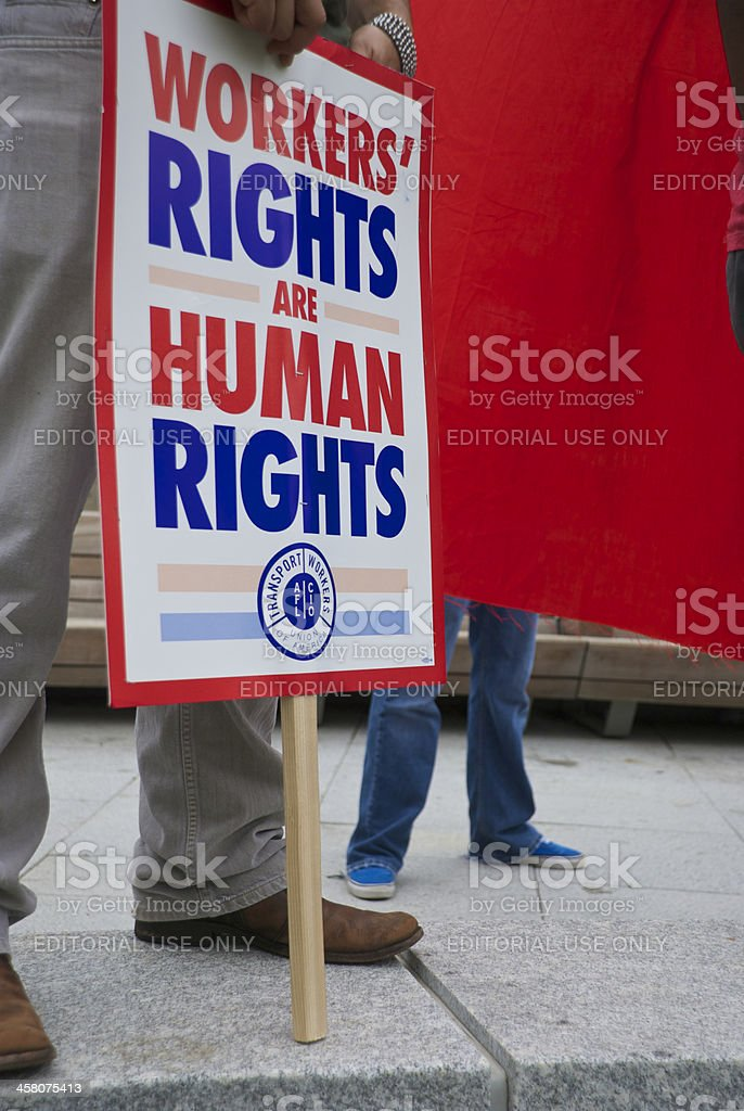 Workers' Rights royalty-free stock photo