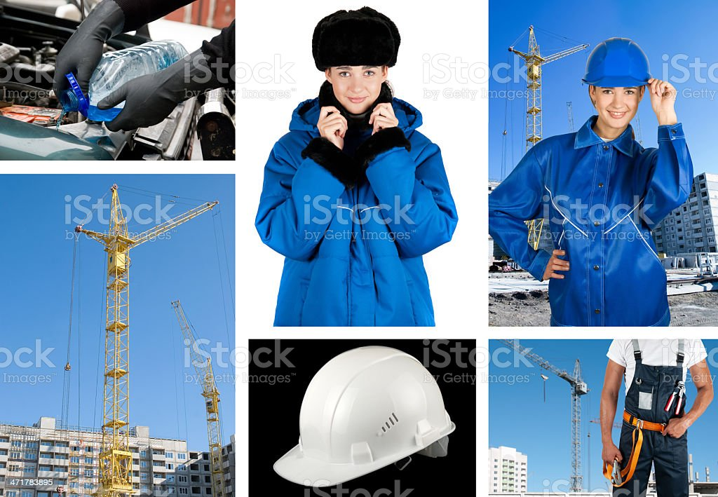 workers set royalty-free stock photo