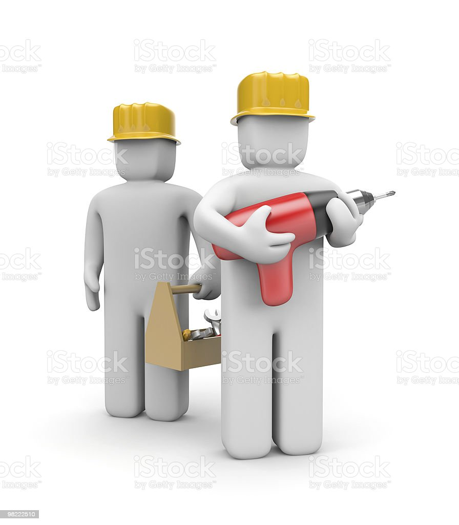 Workers team royalty-free stock photo