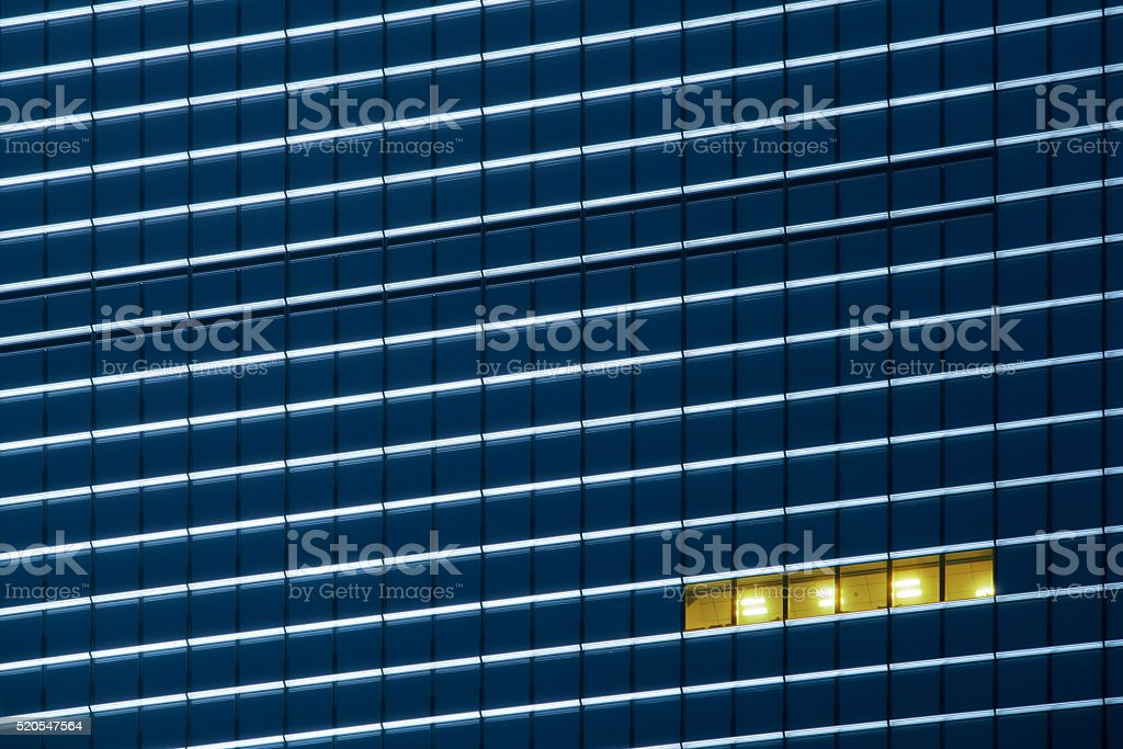 Workers working late stock photo