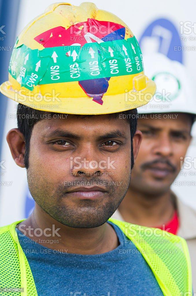 Workers,Dubai stock photo