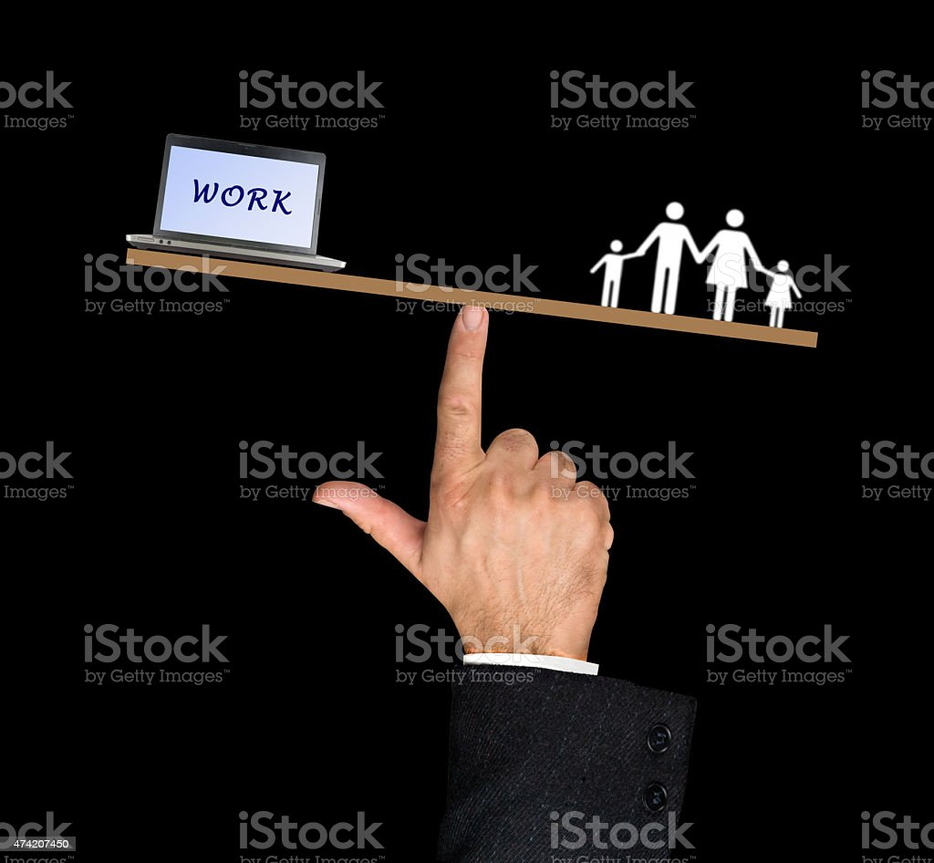 Work/family balance stock photo
