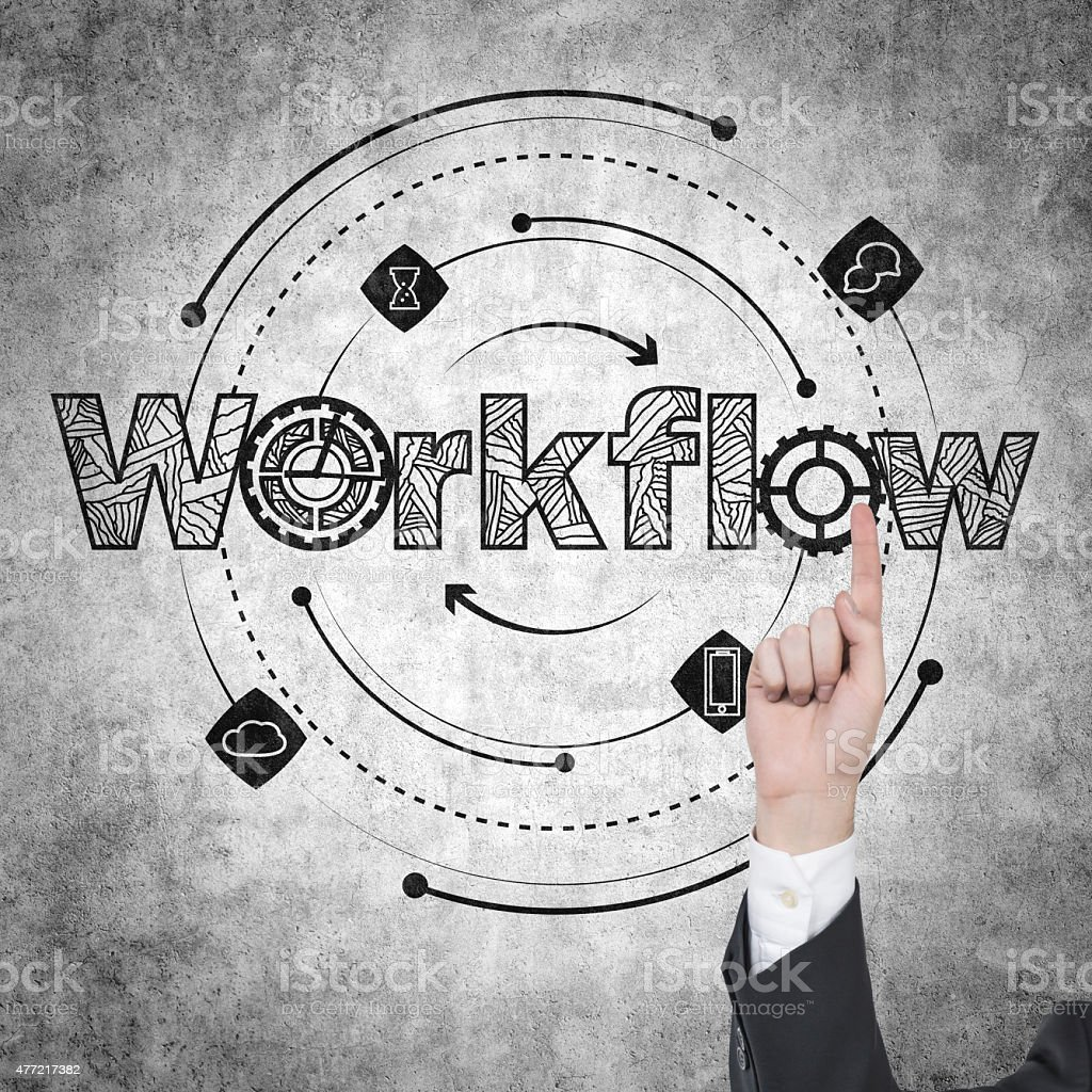 workflow stock photo