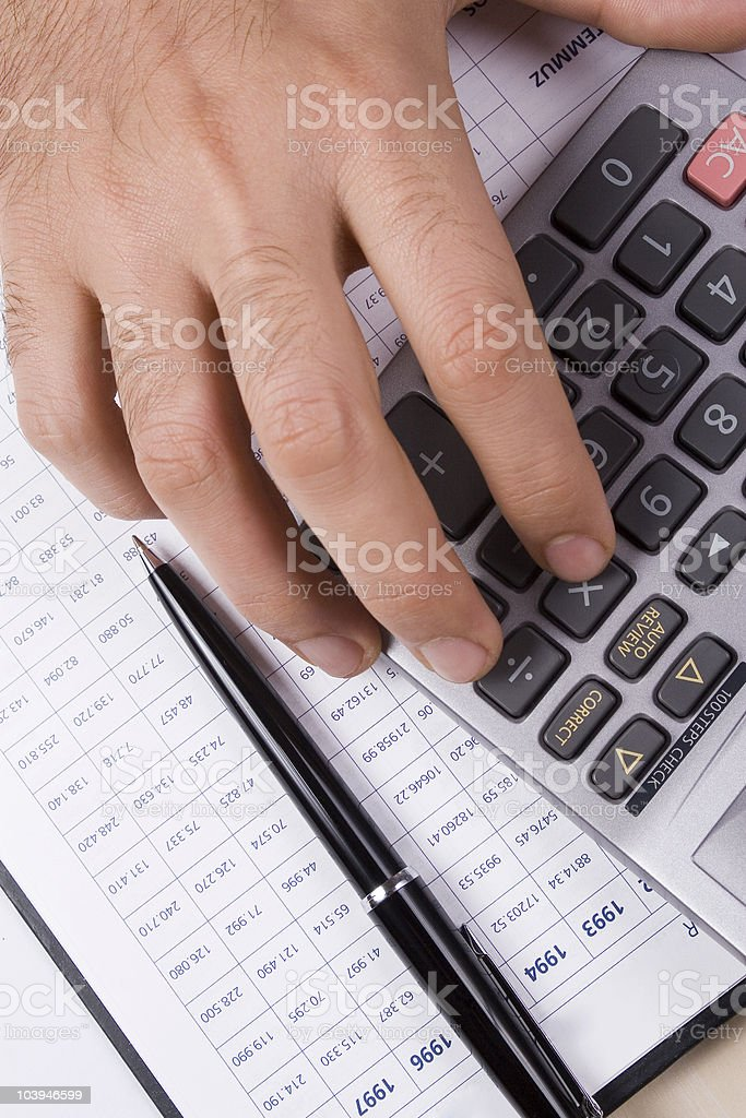 Working about finance royalty-free stock photo