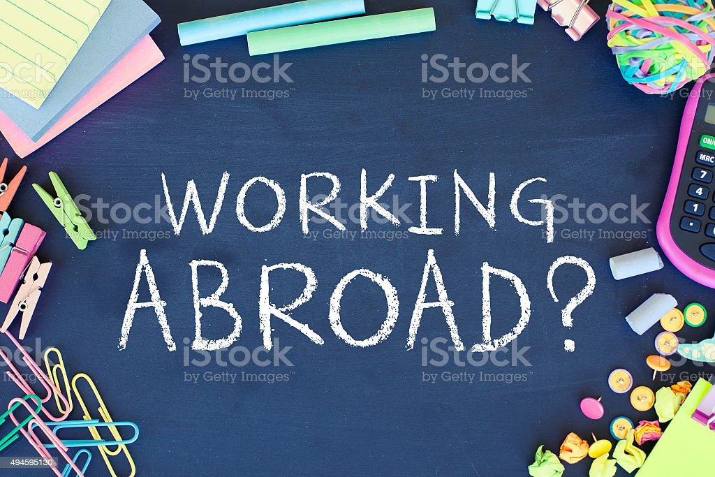 Working Abroad stock photo