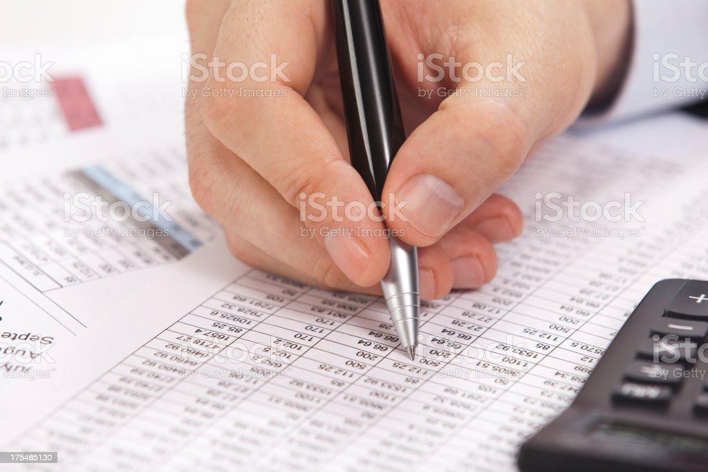 working  accountant stock photo