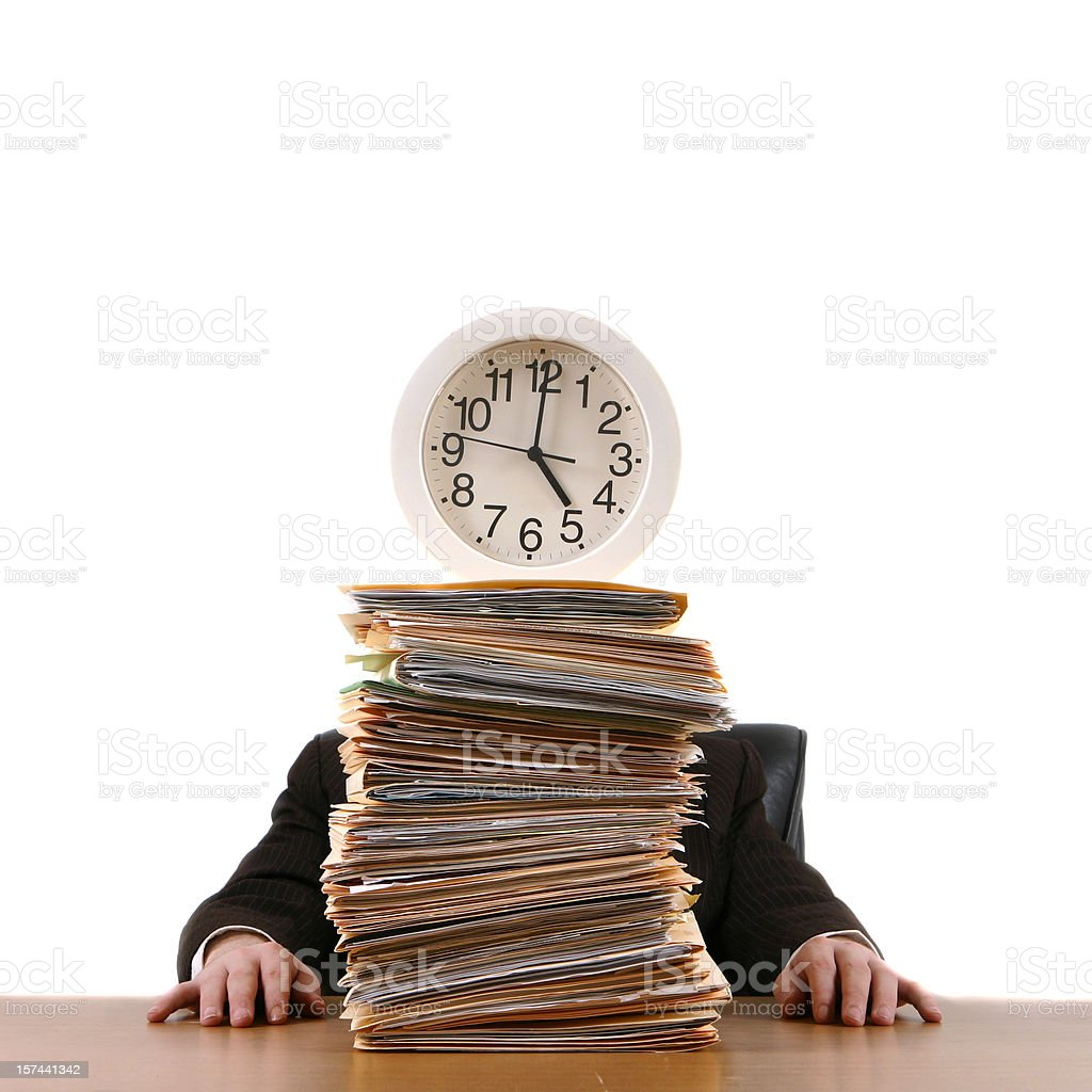 Working After Hours royalty-free stock photo