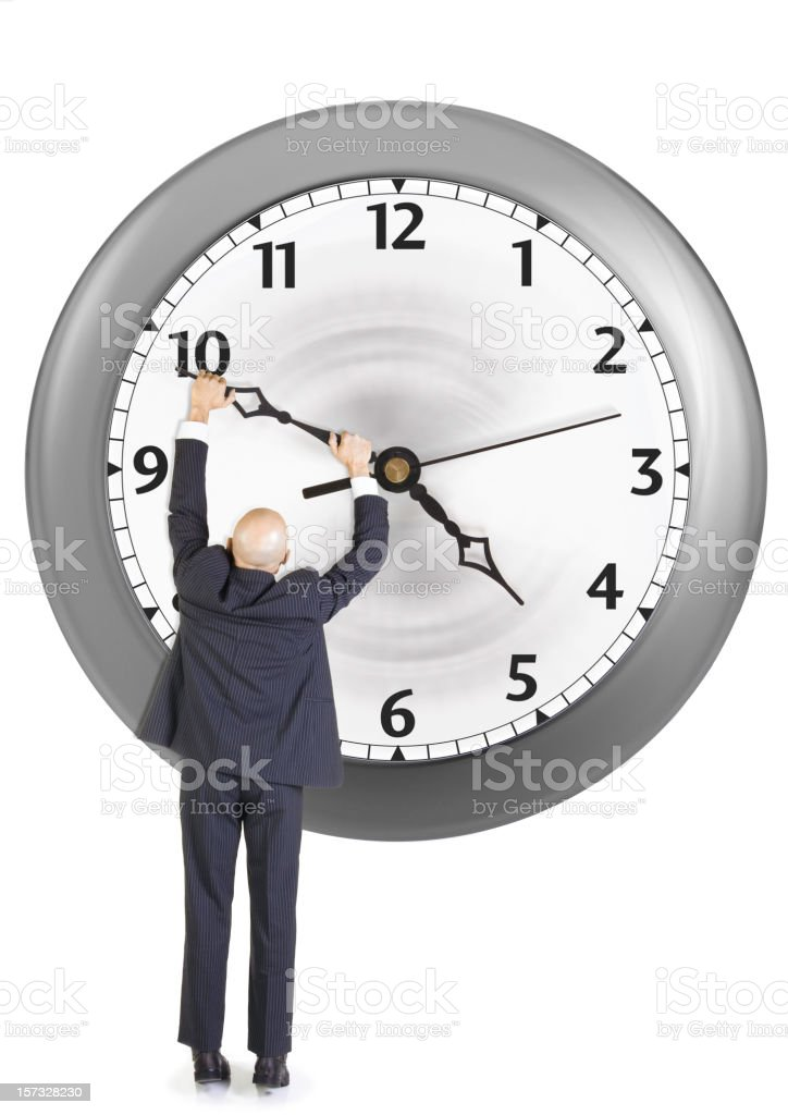 Working Against Big Looming Deadlines stock photo