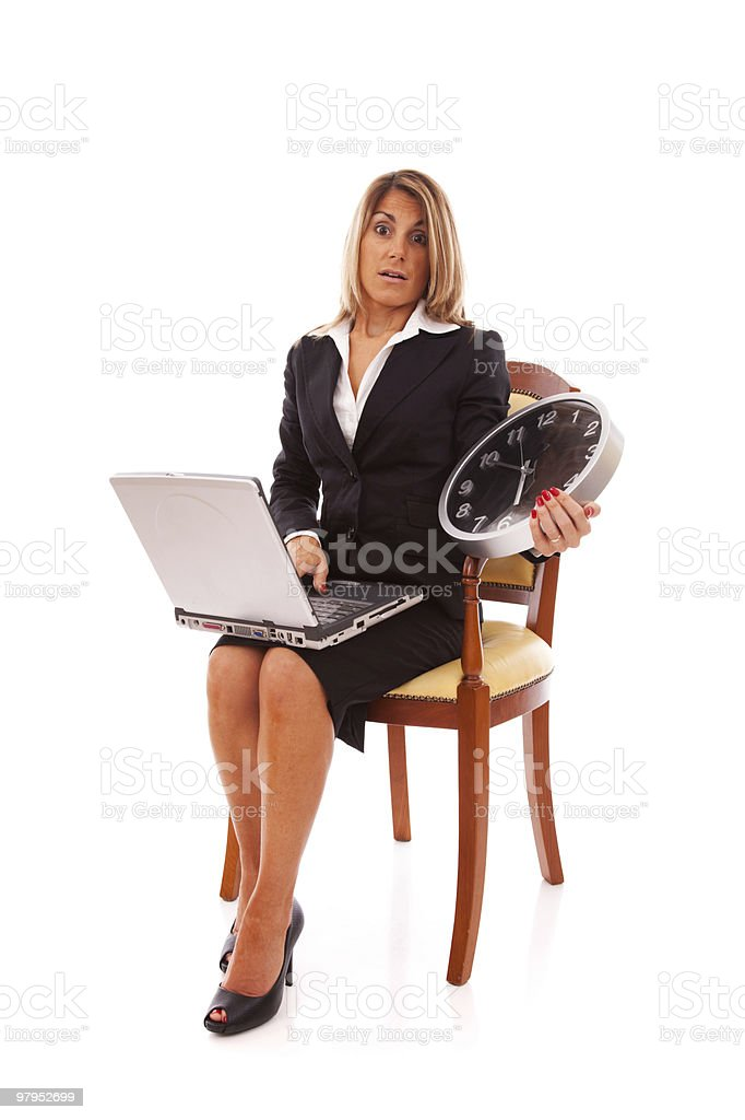 Working against time royalty-free stock photo