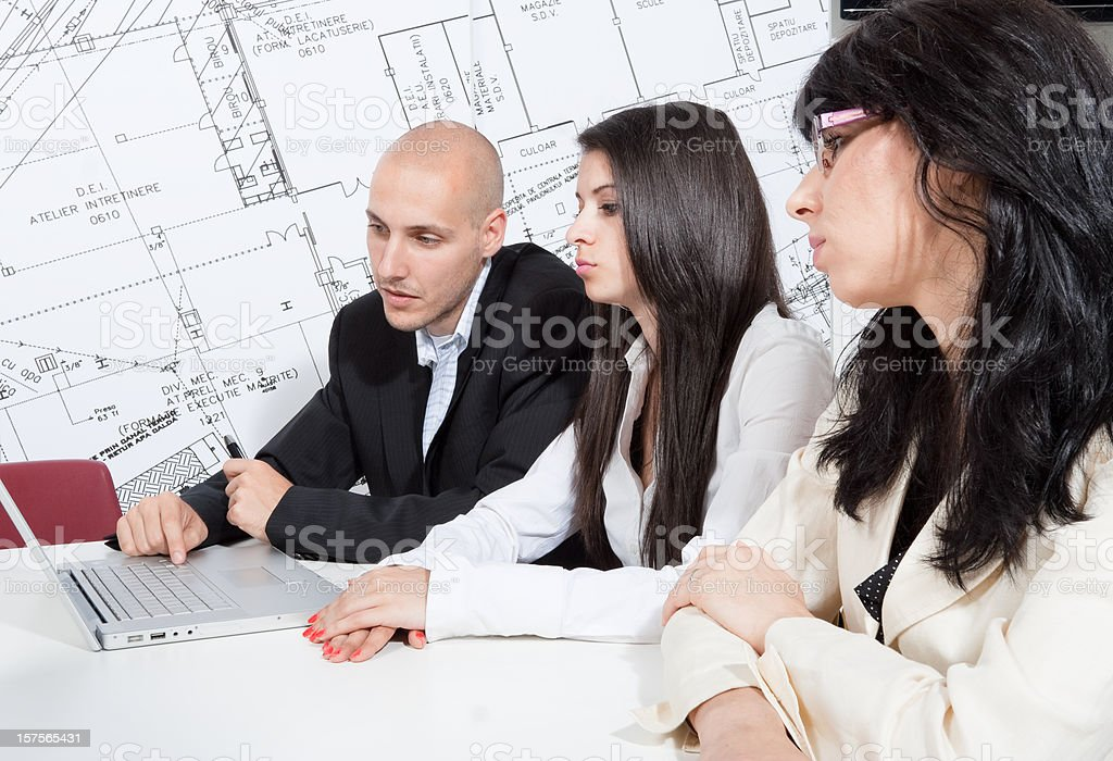 Working and training together royalty-free stock photo