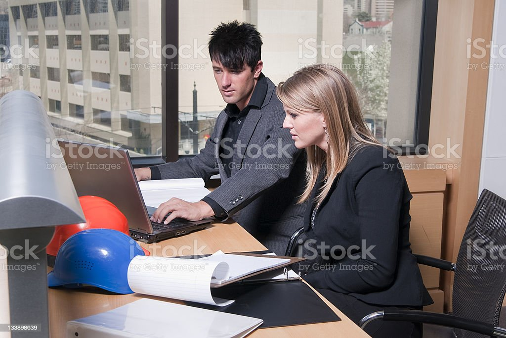 Working Architects stock photo