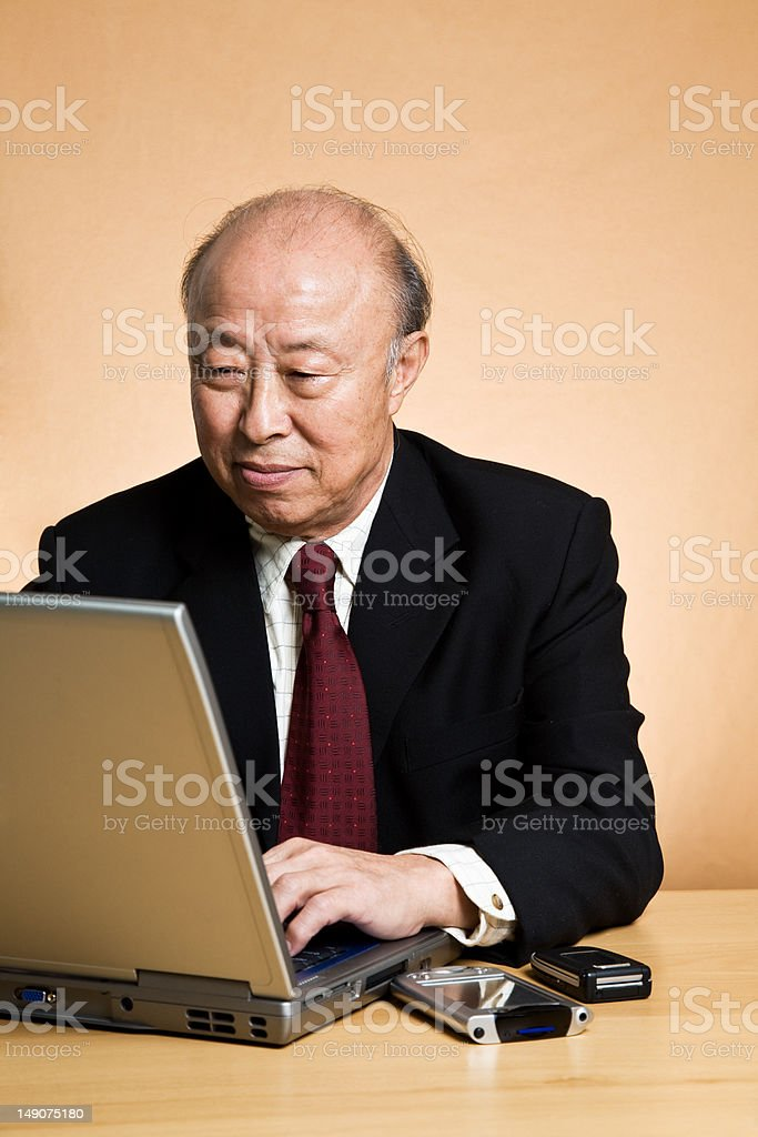 Working asian businessman royalty-free stock photo