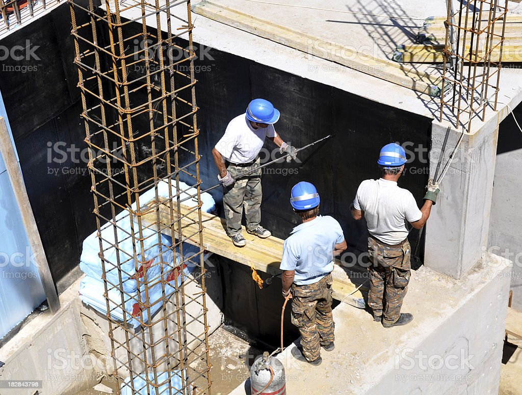 Working at a construction site royalty-free stock photo