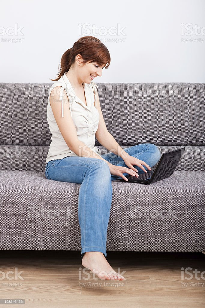 Working at home royalty-free stock photo