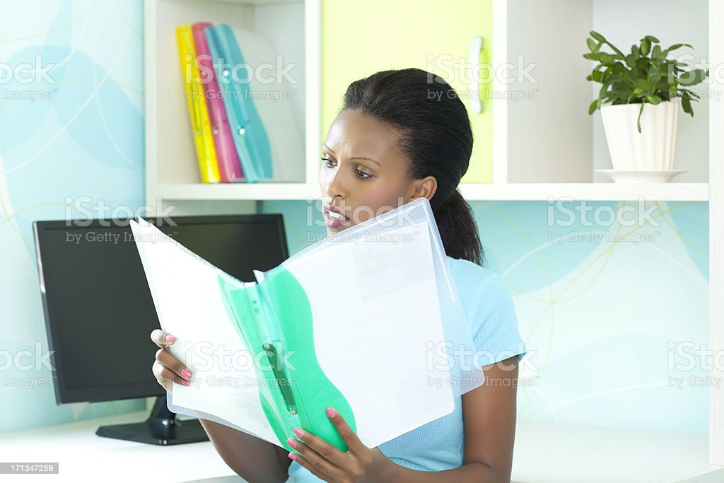 Working at home. royalty-free stock photo