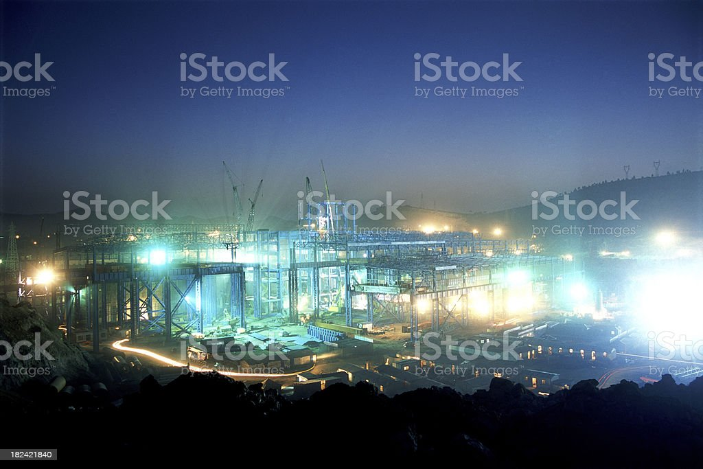 working at night royalty-free stock photo