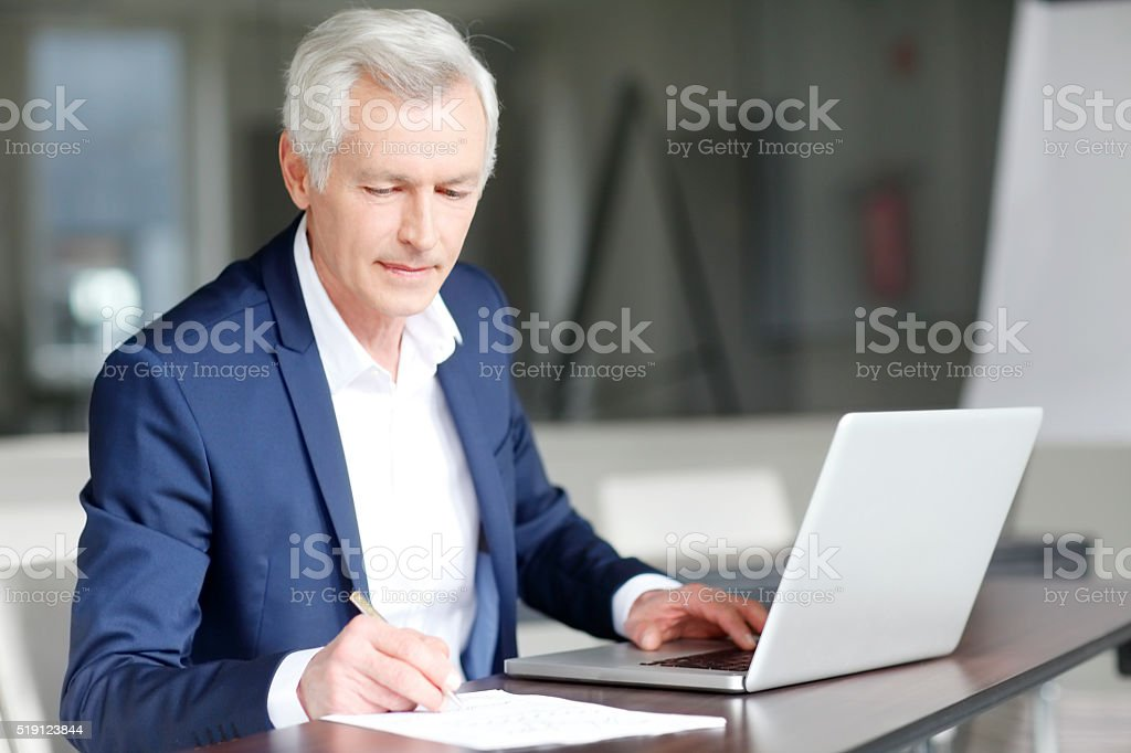 Working at office stock photo