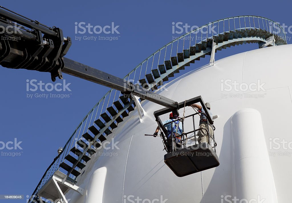 Working at Refinery area royalty-free stock photo