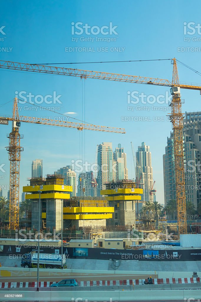 Working at the construction site stock photo
