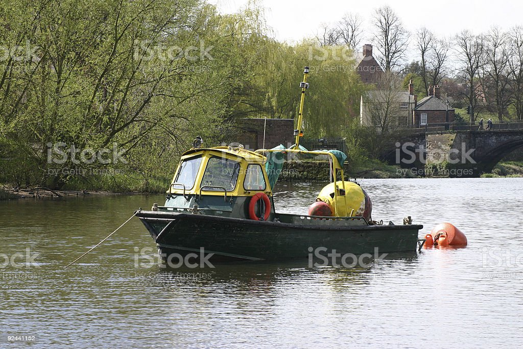 Working Boat royalty-free stock photo