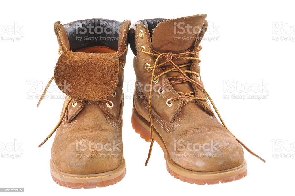 Working boots stock photo