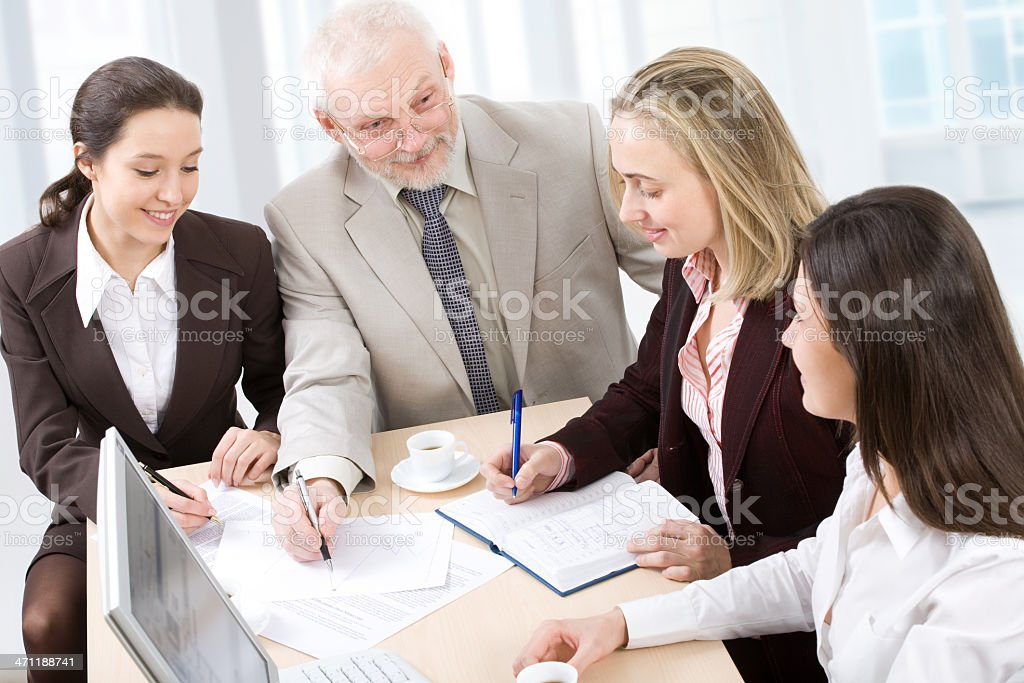 Working business people royalty-free stock photo