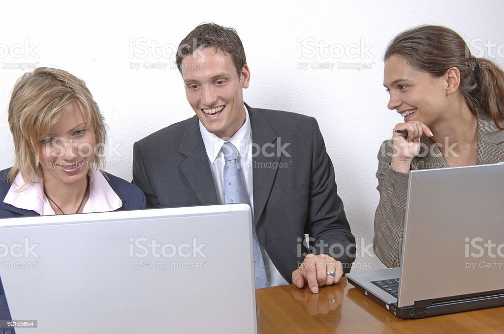 working business team royalty-free stock photo