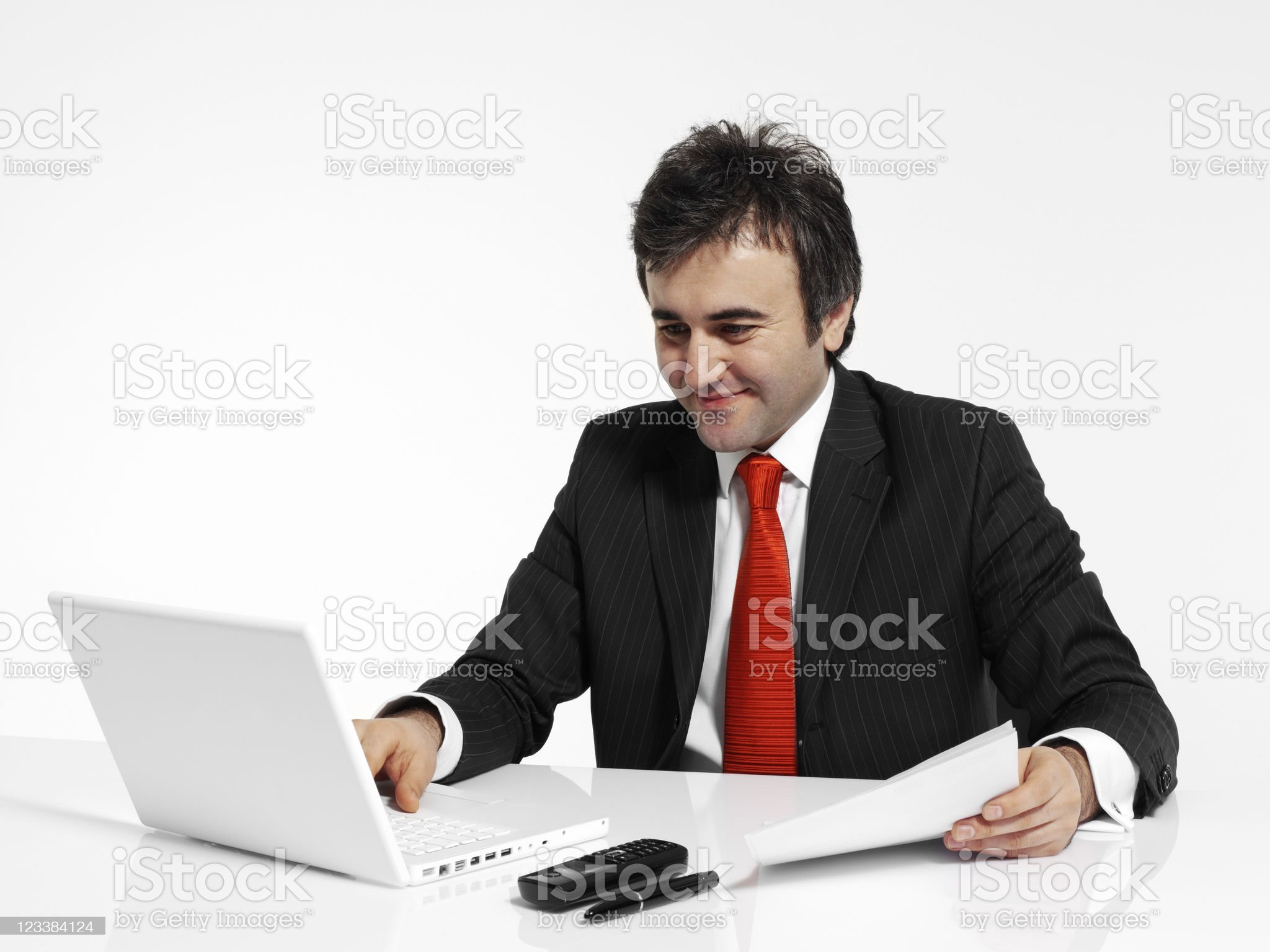 Working businessman royalty-free stock photo