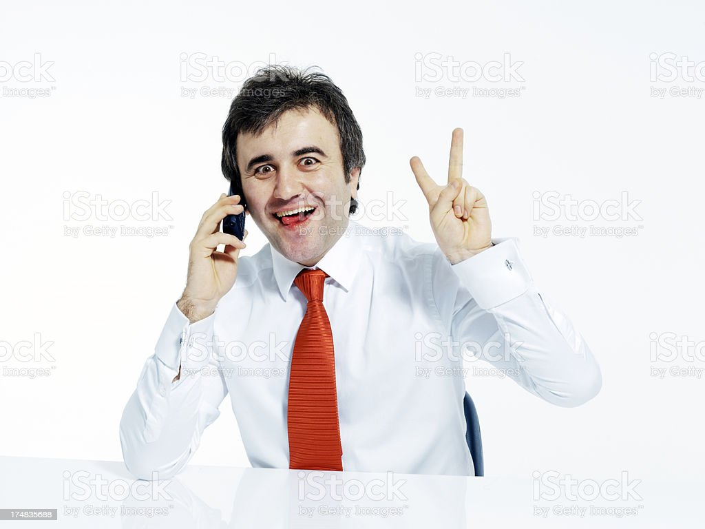Working businessman royalty-free stock photo