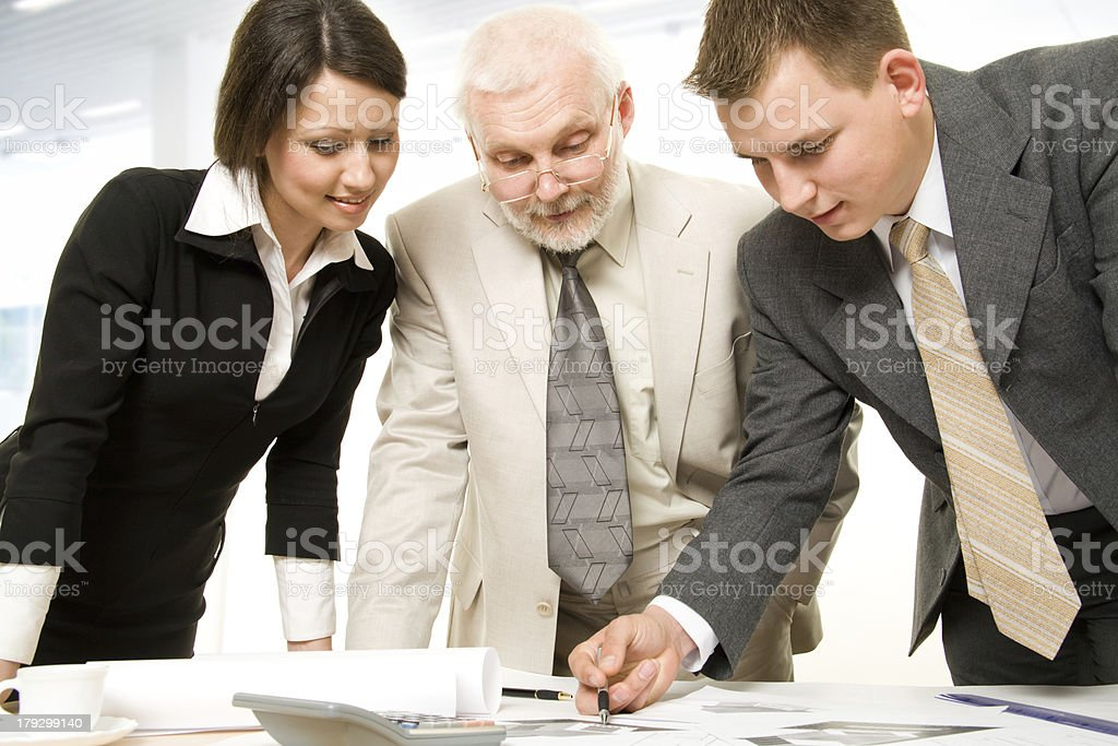 Working  businesspeople in an office royalty-free stock photo