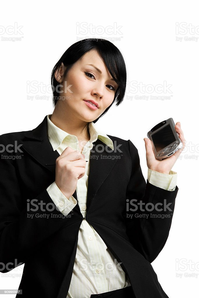 Working businesswoman royalty-free stock photo