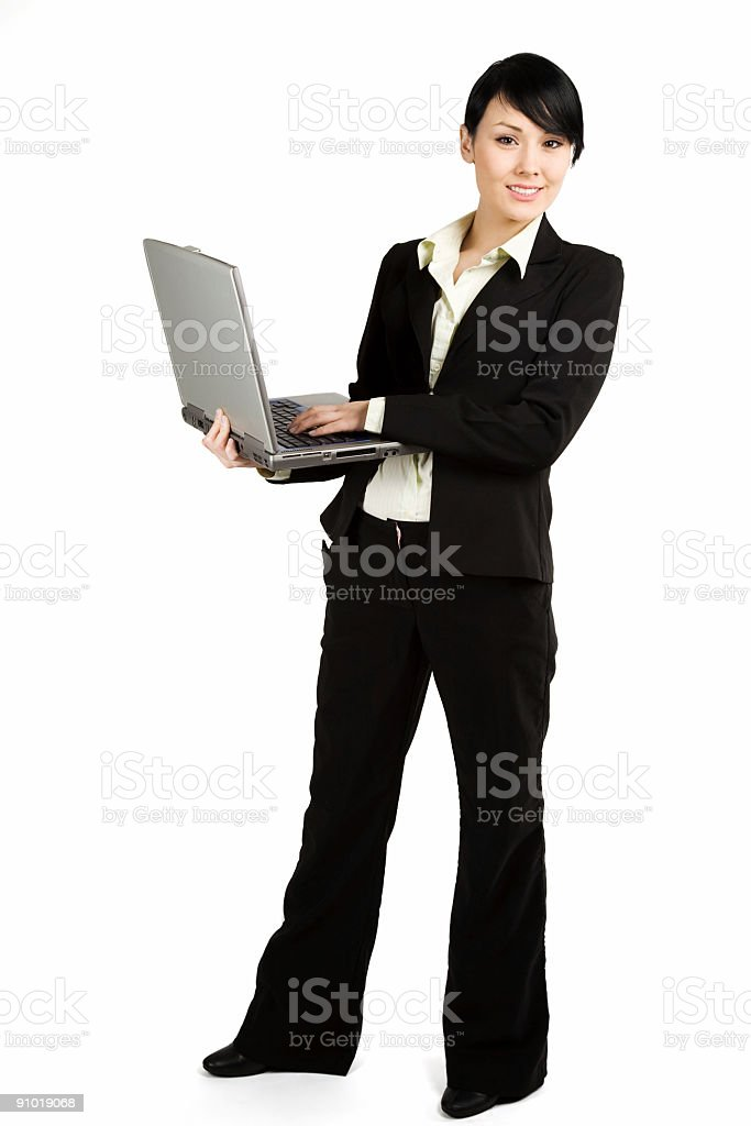 Working businesswoman stock photo