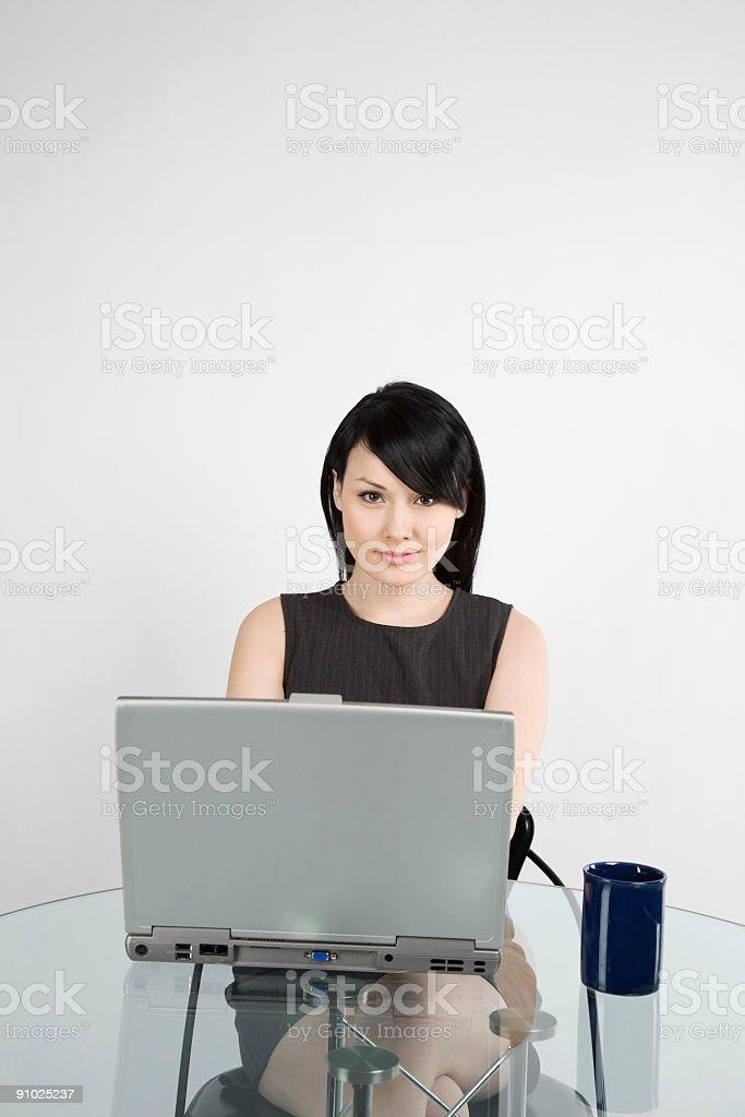 Working businesswoman royalty-free stock photo