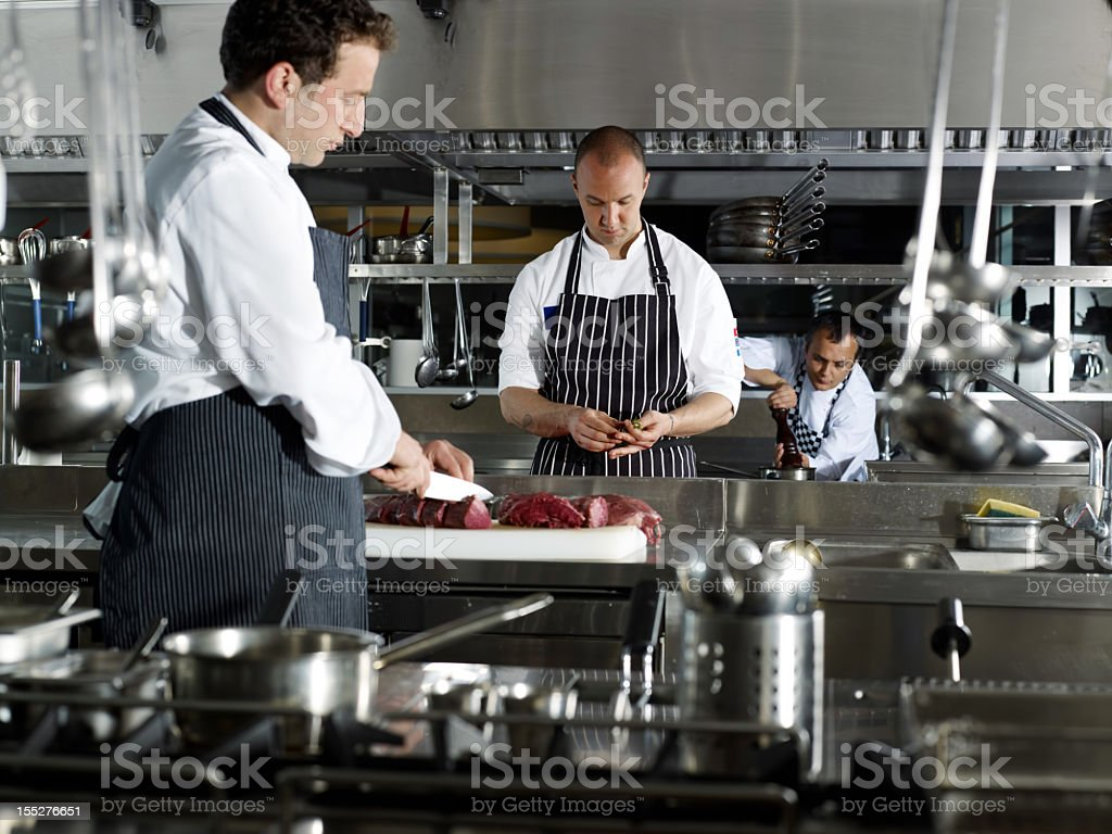 Working Chefs stock photo